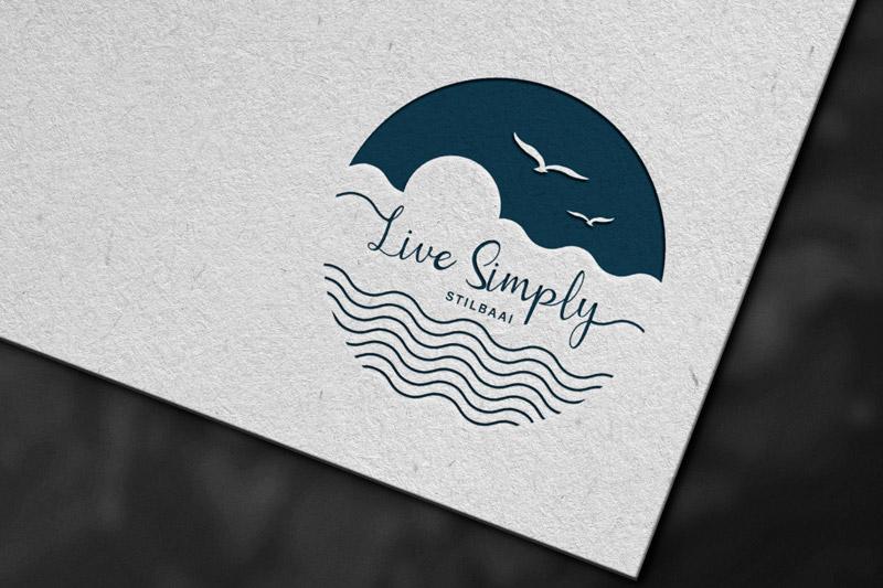 Live Simply logo mockup