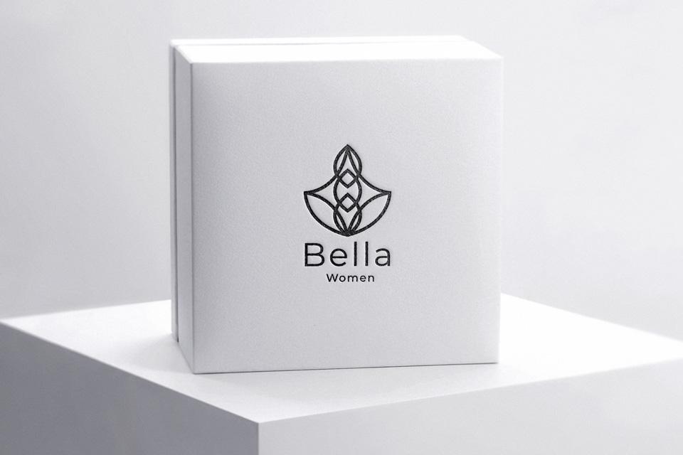 Bella Women logo on gift box
